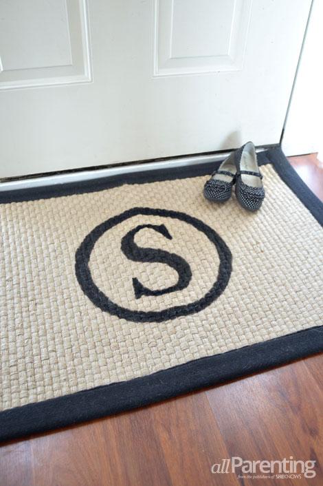 allParenting monogrammed doormat