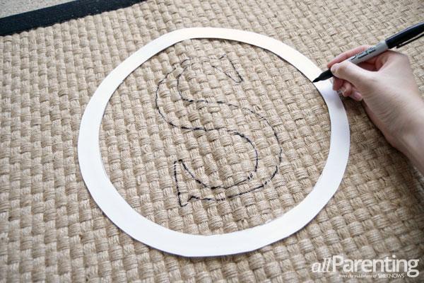 allParenting monogrammed doormat step 4