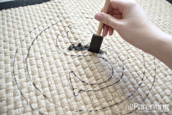 allParenting monogrammed doormat step 5
