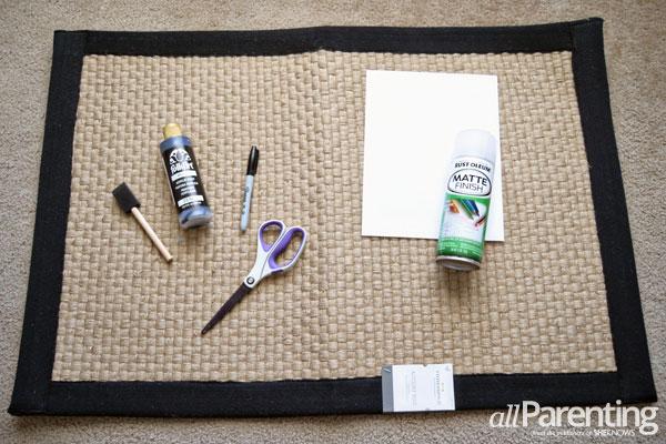 allParenting monogrammed doormat materials