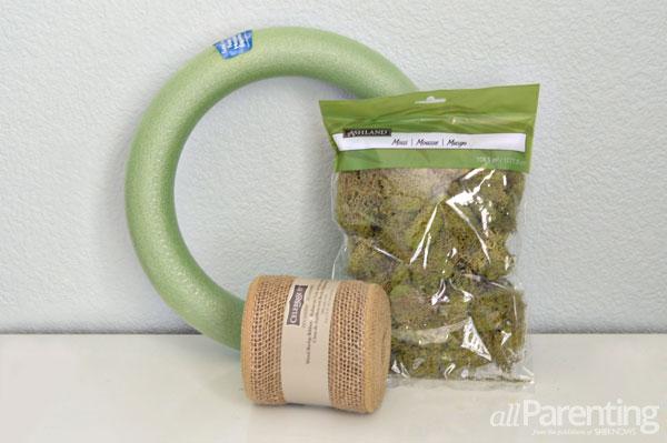 allParenting moss wreath supplies