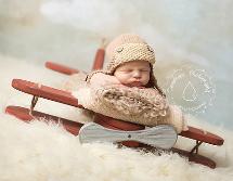 newborn photography prop: Wooden plane