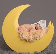 newborn photography prop: Crescent moon