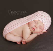 newborn photography prop: Pink cocoon