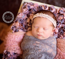 newborn photography prop: Baby headband