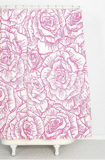 Radiant orchid: shower curtain