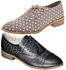 Gap Printed canvas oxford and Sam & Libby Dara Perforated Canvas oxfords