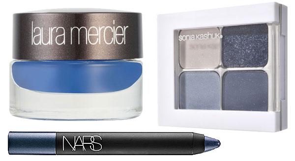 Springtime 2014 makeup: blue eyeshadow