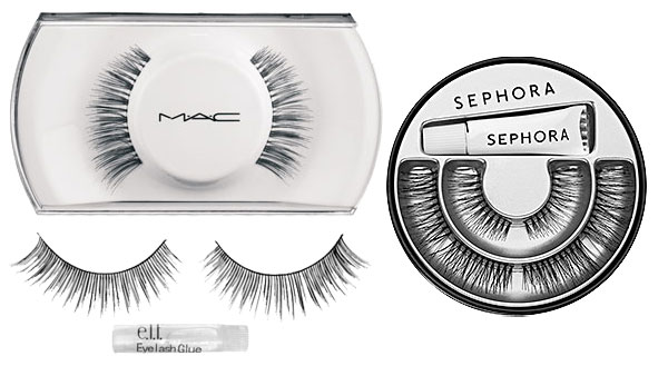 Springtime 2014 makeup: false lashes