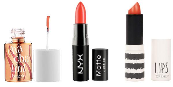 Springtime 2013 makeup: orange lips