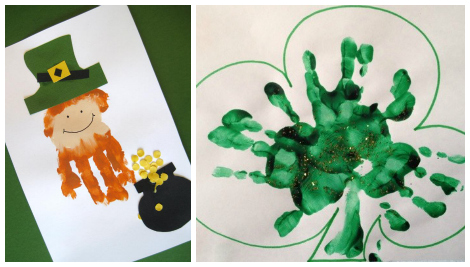 St Patrick's day crafts- handprint crafts