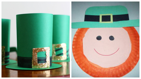 St. Patrick's day crafts- leprechaun hat and leprechaun plate
