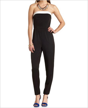 Shop the look: Bow-Back Color Block Strapless Jumpsuit (charlotterusse.com, $33)