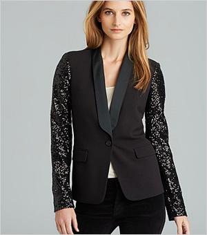 Shop the look: Michael Michael Kors Sequin Tuxedo Blazer (bloomingdales.com, $112)