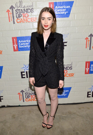 Lily Collins at Hollywood Stands up to Cancer event