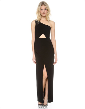 Shop the look: BCBGMAXAZRIA One-Shoulder Cutout Dress (saksfifthavenue.com, $338)