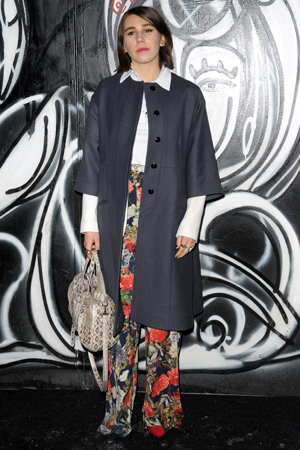 Zosia Mamet at Alice + Olivia's Fall 2014