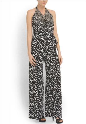 Shop the look: Diane Von Furstenberg Silk Nera Embellished Jumpsuit (tjmaxx.com, $250)