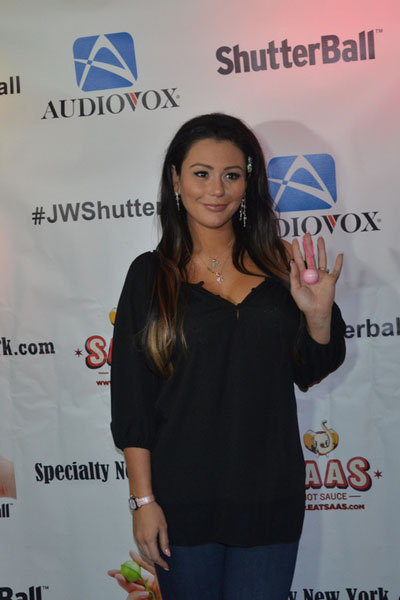 Pregnant JWoww at her 28th birthday party