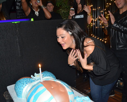 Pregnant JWoww at her birthday party