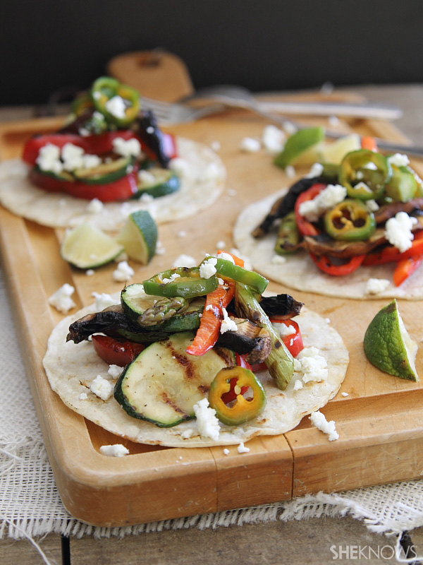Grilled-Vegetable Tostadas Recipe — Dishmaps