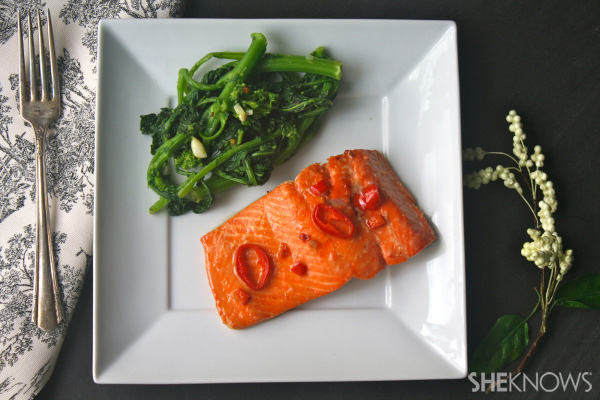 Sweet chili-glazed salmon
