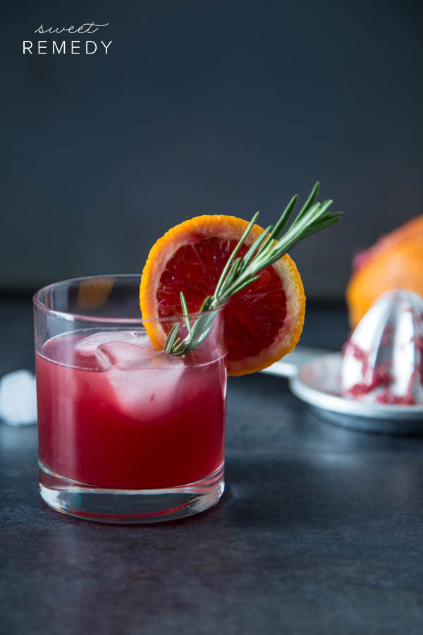 Blood Orange Rosemary Cocktail
