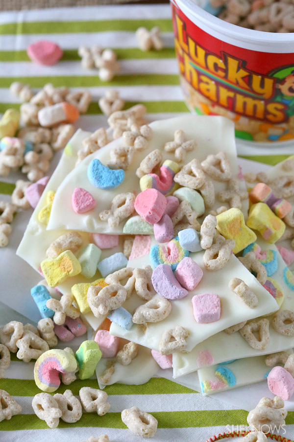 Lucky Charms crunch bark