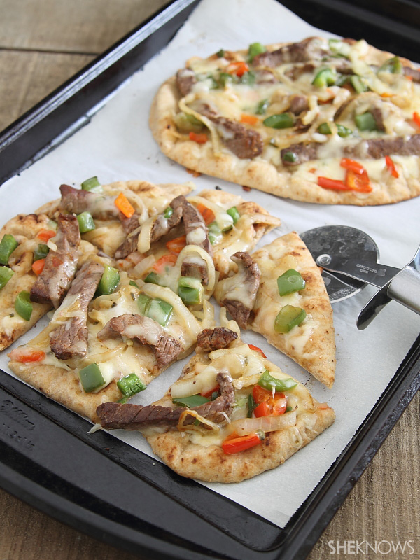 Spicy steak pitzas
