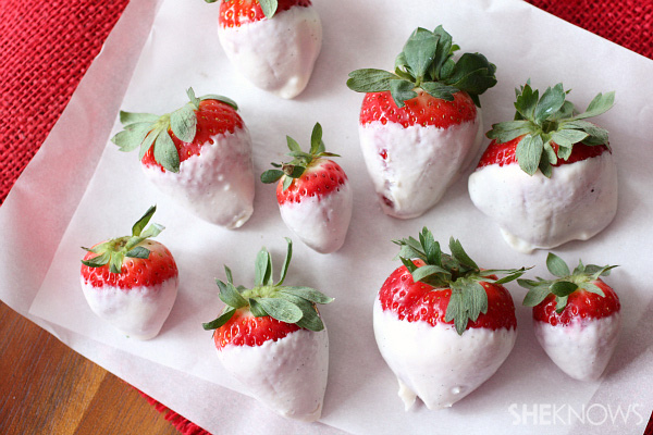Greek yogurt dipped berries