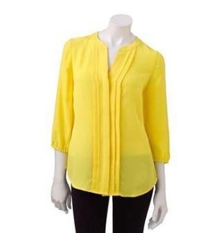 Kohl's yellow blouse