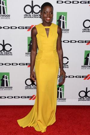 Lupita Nyong'o wearing a J. Mendel gown