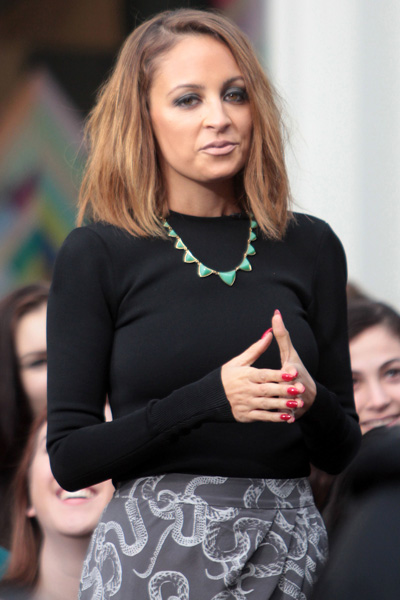 Nicole Richie's pyramid necklace