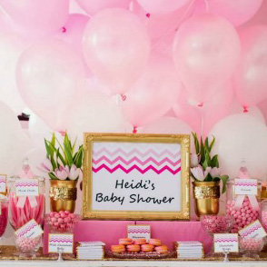 Ombre pink and chevron