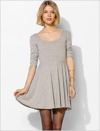 Sparkle & Fade 3/4 sleeve knit skater dress (Urban Outfitters, $39)