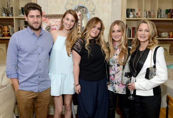 Whitney Port with fiancé Tim Rosenman and her family