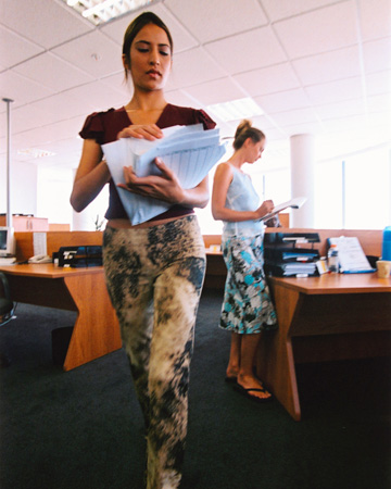 Woman dressed casually at work