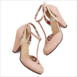 Modcloth Classic Confection Heels in Bubblegum (modcloth.com, $70)