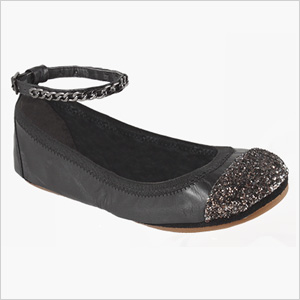 Yosi Samra Two Tone Glitter Cap Toe Flat (yosisamra.com, $92)
