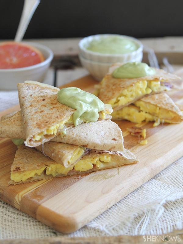 The ultimate breakfast quesadilla