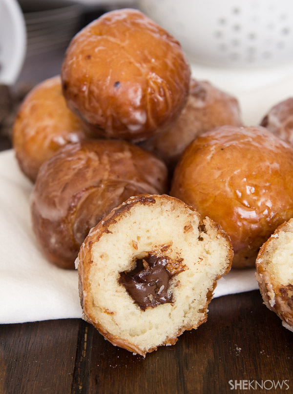 Chocolate stuffed donut holes