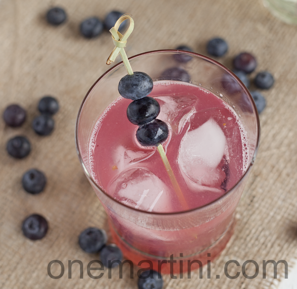 Blueberry lemongrass margarita