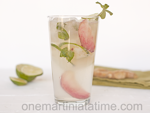 White peach ginger mojito