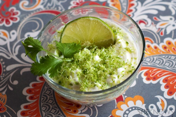 Creamy lime dip recipe