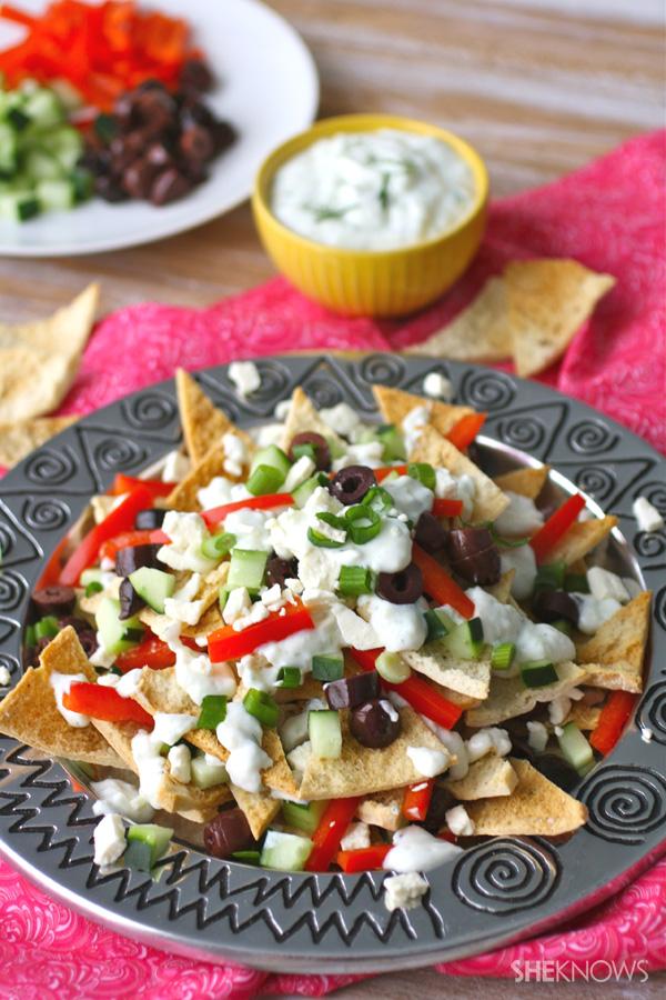Game day Greek nachos