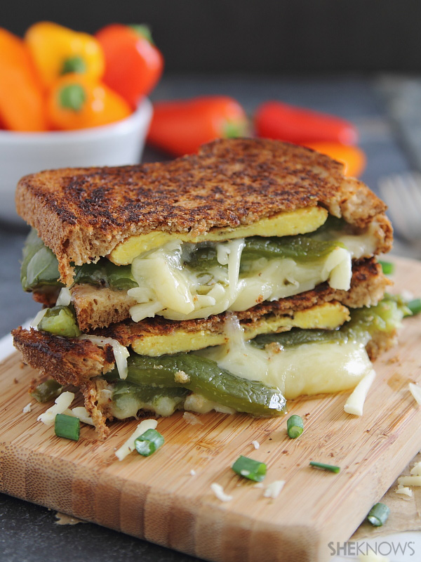 Hot chile grilled cheese