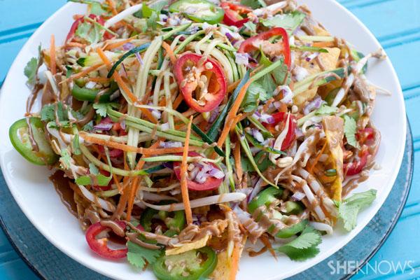 Pad Thai chicken nachos recipe