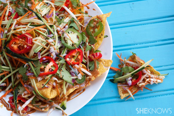 Pad Thai chicken nachos recipe