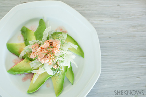 A fresh springtime layered salad