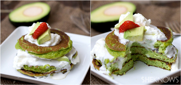 Avocado, almond meal and lemon pancakes